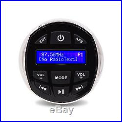 Marine Stereo Waterproof DAB+ Radio Bluetooth Car Boat Audio Receiver Yacht ATV
