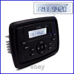 Marine Stereo Waterproof Radio Motorcycle Bluetooth Audio Boat Car MP3 Player