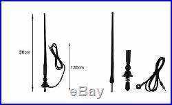 Marine Waterproof Boat Radio FM DAB USB AUX BT A2DP 2pc 3 black speaker antenna