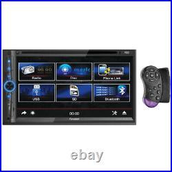 NEW Bluetooth DVD CD Car Audio Media Head Unit. Receiver. Aux. Radio. Stereo. 2din