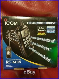 NEW ICOM M 35 IC-M35 Hand Held Marine VHF Radio UK Spec Boat Transceiver