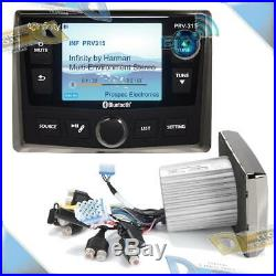 NEW Infinity Round Cut-Out AM/FM Radio Bluetooth/USB Stereo Marine/Boat Receiver