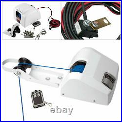 NEW Marine Boat Electric Anchor Winch Wireless Remote 45LBS 100ft Free Fall