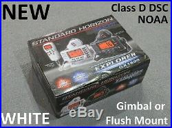 NEW Standard Horizon GX1600 Explorer VHF Marine Boat Radio DSC/NOAA White