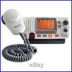 NEW in box. Cobra MRF77W GPS Our most advanced marine boat VHF radio