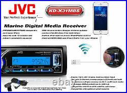 New JVC Marine Boat KDX31MDS iPhone AUX Input USB Bluetooth Radio with4 Speakers