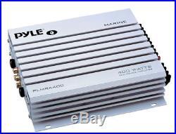 New Kenwood Marine Boat Bluetooth CD USB MP3 Radio + 6X White Speakers, 400W Amp