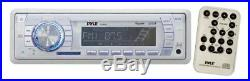 New Marine Boat MP3 USB WMA Radio Media Receiver 4 X Box Speakers 400W Amp Pkg