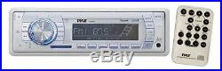 New Marine Yacht Boat MP3 USB AUX Radio 4 x 6.5 Speakers Stereo Cover & Remote
