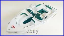 Nqd Rc Radio Control Atlantic Yacht Bayliner High Speedboat Model Toy Twin Motor
