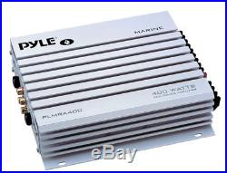 PLCD5MRBTS Marine Boat Yacht USB CD Radio Stereo + 4 Speakers 400W Amp /Cover