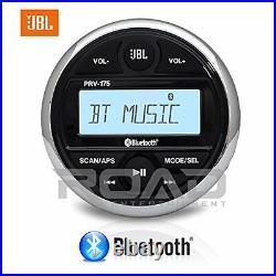 PRV-175 Marine Bluetooth Radio, 6.5 LED Speaker Set, Amplifier and Install Kit
