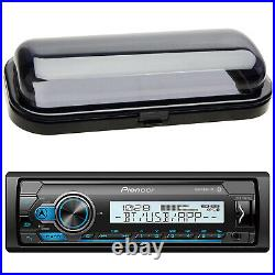 Pioneer MVHMS310BT Single DIN Marine Boat Yacht Bluetooth MP3 USB Radio & Cover
