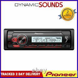 Pioneer MVH-MS410BT Marine Radio Bluetooth USB 1-DIN Radio Boat and Bath Rooms