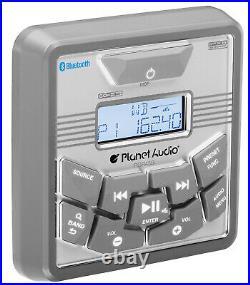 Planet Audio Marine Boat 3 Gauge Receiver Bluetooth MP3 Player USB AM/FM Radio