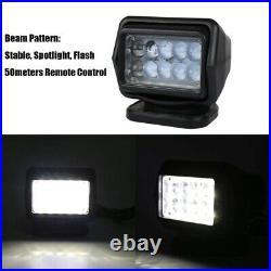 Portable Marine Searchlight Spotlight Wireless LED 12V/24V for Boats & Off Roads