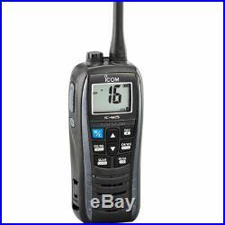Portable VHF Boat Marine Radio M25 Floating Metallic Gray 5W Icom