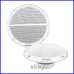Pyle 1DIN Boat Yacht Bluetooth Radio + 6x 6.5 White Speakers, 400W Amp, Cover