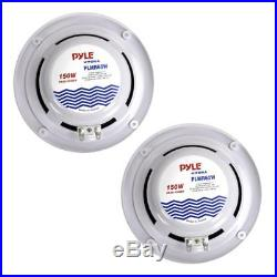 Pyle Boat Marine Radio Receiver, (4) 6.5 150W Marine Stereo Speakers & Antenna