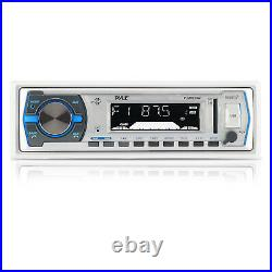 Pyle In-Dash Radio Stereo MP3 Player For your Boat, 4 Speakers 400W Amp + Cover