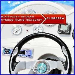 Pyle Marine Bluetooth Stereo Radio 12v Single DIN Style Boat In dash Radio