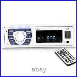 Pyle Marine Stereo USB MP3 Receiver With Radio, 4x 5.25 Speakers, Radio Cover