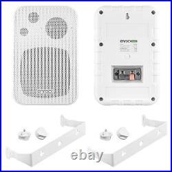 Pyle PLMR14BW Bluetooth USB Boat Radio, 4 Speakers, 6.5 Speakers, Antenna