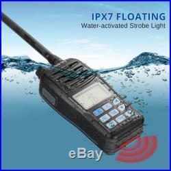 Radioddity Voyage RV6 VHF Marine Radio IP67 Floating NOAA Strobe Boat Fishing