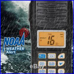 Radioddity Voyage RV6 Water Floating NOAA Strobe Boat Fishing VHF Marine Radio