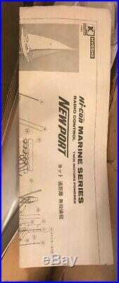 Rare Vintage. Kyosho Radio Control Marine Series Newport Sail Boat. K1482