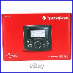 Rockford Fosgate Pmx-1 Marine Boat 200w Amp Media Receiver Bluetooth Usb Aux New