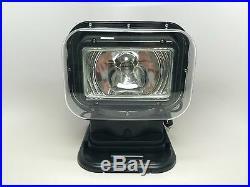 Rv Marine Boat Black Work Spotlight Portable Wireless Remote Control Rubber Base