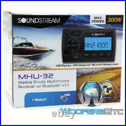 Soundstream Mhu-32 Marine Boat Digital Media Player Bluetooth Usb 300w Amp Radio