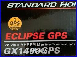 Standard Horizon Eclipse GX1400GPS 25W VHF/FM Marine Boat Radio Class D