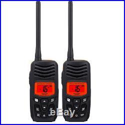 Standard Horizon HX100 Floating 2.5W Handheld VHF Marine Boat Radio 2 Radios