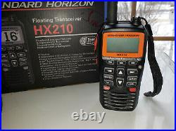 Standard Horizon HX210 6W Floating Handheld Boat Marine VHF Radio Transceiver