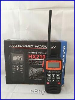 Standard Horizon HX210 Handheld Marine Floating VHF Radio Yacht Boat