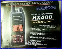 Standard Horizon HX400 Submersible Handheld VHF Marine Boat Radio