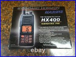 Standard Horizon HX400 Submersible Handheld VHF Marine Boat Radio (FC)