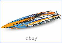 Traxxas 57076-4 Spartan Brushless 50+mph Race Boat Orange RTR with TQi Radio