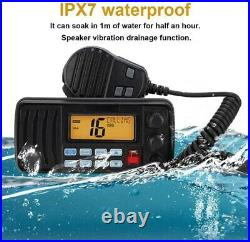 VHF Waterproof Floatable Weather Channel FM Marine Boat Mobile Radio Transceiver