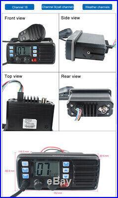 VHF Waterproof Weather Alert FM Marine Boat Amateur Ham Mobile Radio Transceiver
