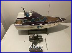 Very Rare Vintage German Robbe Heica Radio Controlled Cruiser Boat Novak ESC 80s
