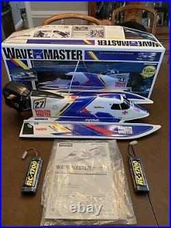 Vintage Kyosho RC Wave Master Boat Radio Controlled Electric Original Box
