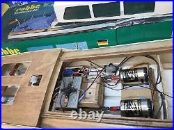 Vintage Robbe Bussard radio controlled model boat Part Built