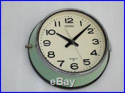 Vintage Seiko Japan Qa 513m Ships Boat Yacht Quartz Marine Radio Room Clock
