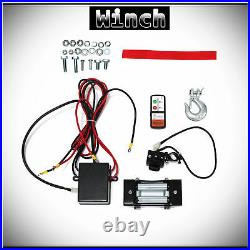 WIN-2X 4500lb 12V Electric Recovery Winch Kit withSteel Cable For ATV UTV Boat Car