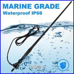 Waterproof Bluetooth Boat Stereo Radio, 4'' Box Waterproof Speakers, FM AM Antenna