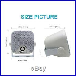Waterproof Bluetooth Marine Stereo Audio FM AM Radio Boat Radio + White Antenna