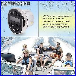 Waterproof Boat Radio Marine Headunit Bluetooth Stereo Receiver Car ATV UTV MP3